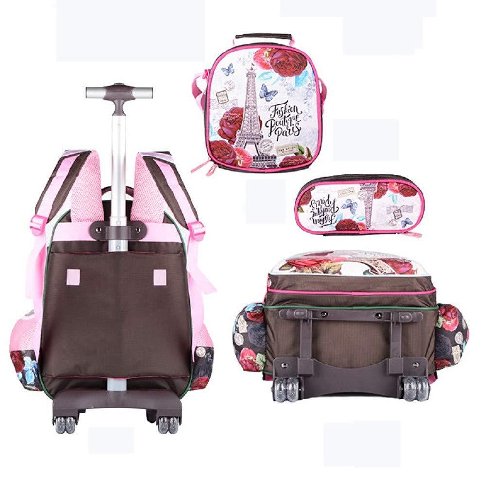 Cartoon Pupils Trolley Backpack Mochilas para niños y niñas ...