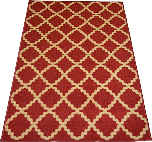 DiscountWorld 10070 Non-Slip Rubber Back Extremely Durable Anti-Slip Water Resistant Small Rug for Kitchen Hallway Entrance Doormat Home Dé cor Smooth Rug Design Homedora