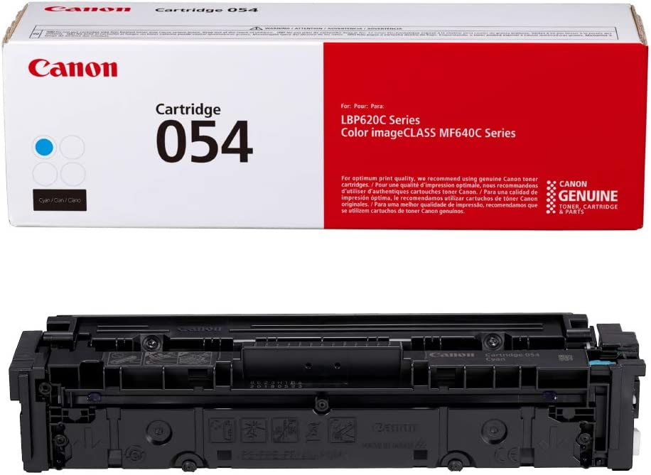 Canon Genuine Toner, Cartridge 054 Cyan (3023C001) 1 Pack, for Canon Color imageCLASS MF641Cdw, MF642Cdw, MF644Cdw, LBP622Cdw Laser Printers, Standard