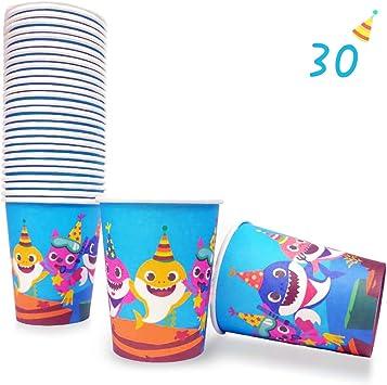 Amazon.com: Juego de 30 vasos desechables de papel para ...