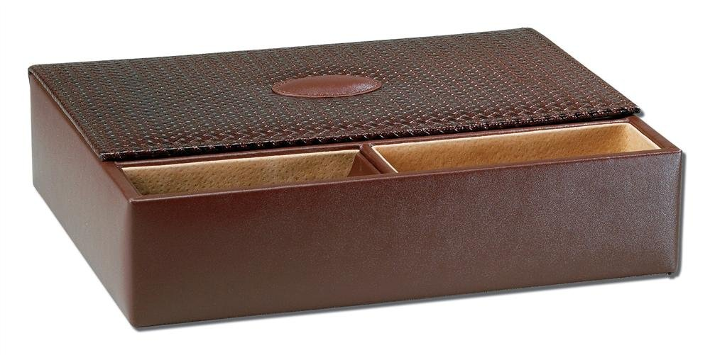 Amazoncom Mens Valet Jewelry Box Brown Brown 275H x 1175W