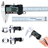 Calibrador digital Vernier, de acero inoxidable, con pantalla de lectura LCD y rango de medición de 150 mm, marca Haichen