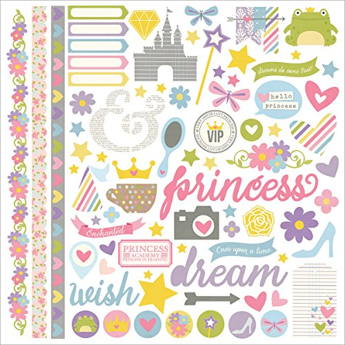 Enc Card - Simple Stories Fundamental Enchanted Cardstock Stickers, 12