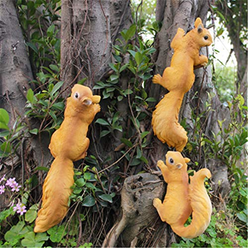 Outdoor Garden Kindergarten Resin Squirrel Ornament Craft Decoration Home Courtyard Creative Simulation Tree Animal Sculpture style21-3PCS -