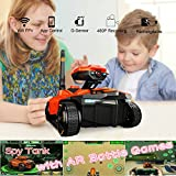 MaQue Spy Tank with FPV Camera Wifi RC Tank Wireless RC Cars App Control Tank RC Toy Andriod IOS Phone Controlled Robot Toys with Dogflight AR Game Battle Games