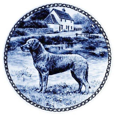Skan Lekven Chesapeake Bay Retriever: Danish Blue Porcelain Plate #7333