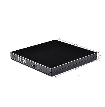 Unidad de DVD externa, portátil, delgada, USB 2.0, DVD, CD,