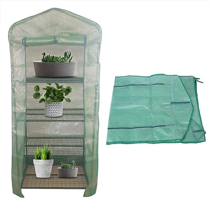 Jardín Portátil de Plástico Verde Casa Plantas de Flores de Efecto Invernadero Cálido para Patio Jardín Trasero al Aire Libre(S): Amazon.es: Hogar