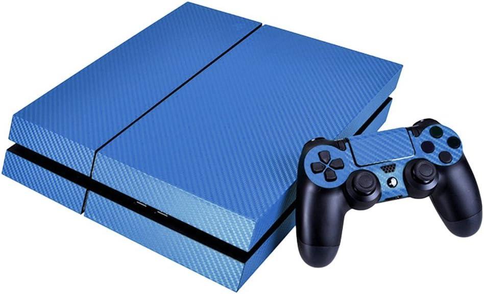 Swiftwan Carbon Fiber Game Console Protector Cubierta Pegatinas Calcomanía para Playstation 4 PS4: Amazon.es: Electrónica