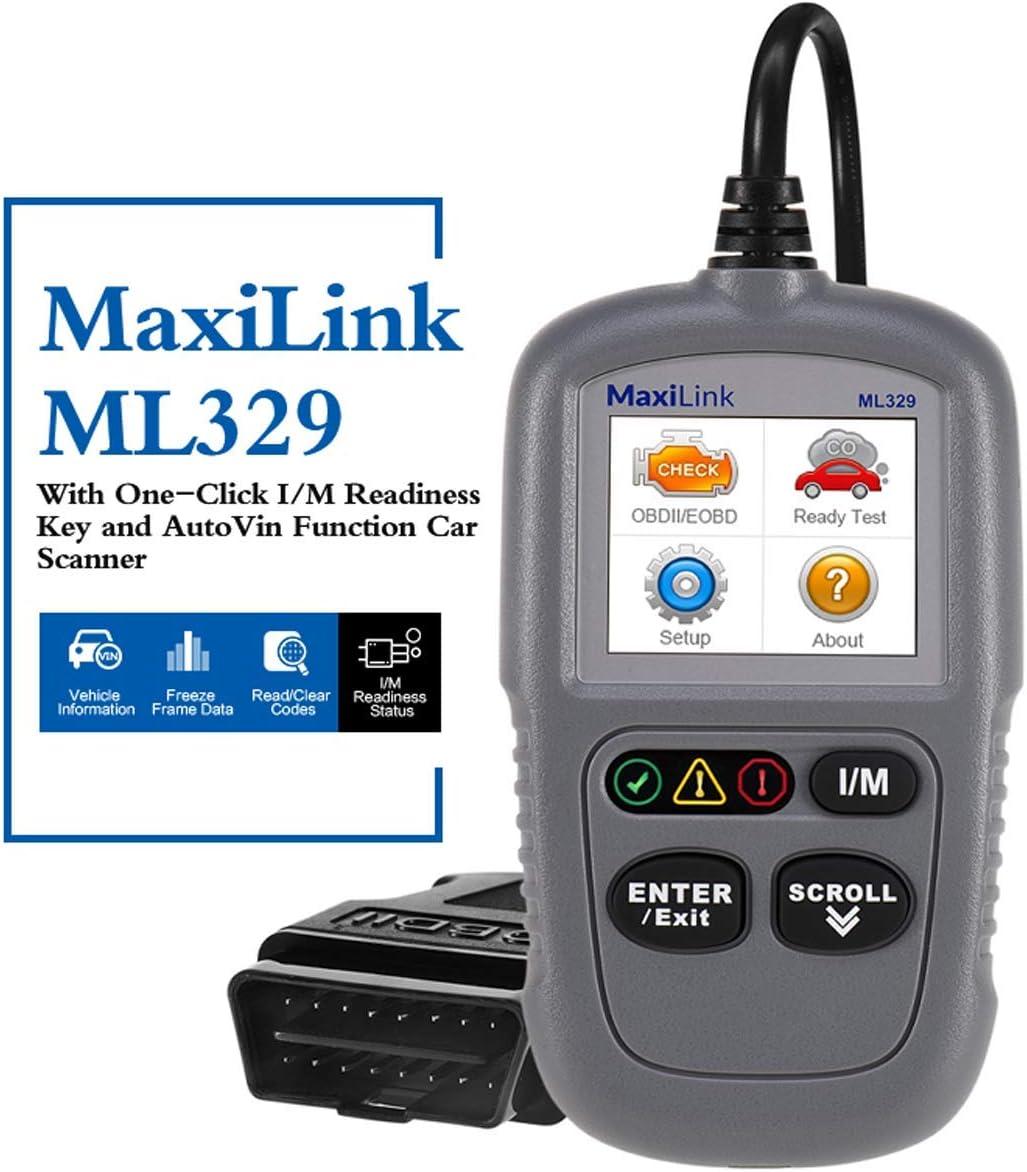 Autel Ml329 Kfz Auslesegerät Obd2 Diagnosegerät Für Benzin Dieselmotor Mercedes Benz Bmw Opel Vw Renault Etc Software Free Update Auto