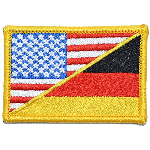 Germany/USA Flag - 2x3 Morale Patch - Full Color