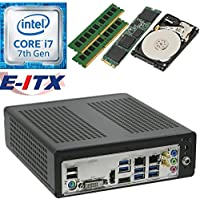 E-ITX ITX350 Asrock H270M-ITX-AC Intel Core i7-7700 (Kaby Lake) Mini-ITX System , 16GB Dual Channel DDR4, 120GB M.2 SSD, 2TB HDD, WiFi, Bluetooth, Pre-Assembled and Tested by E-ITX