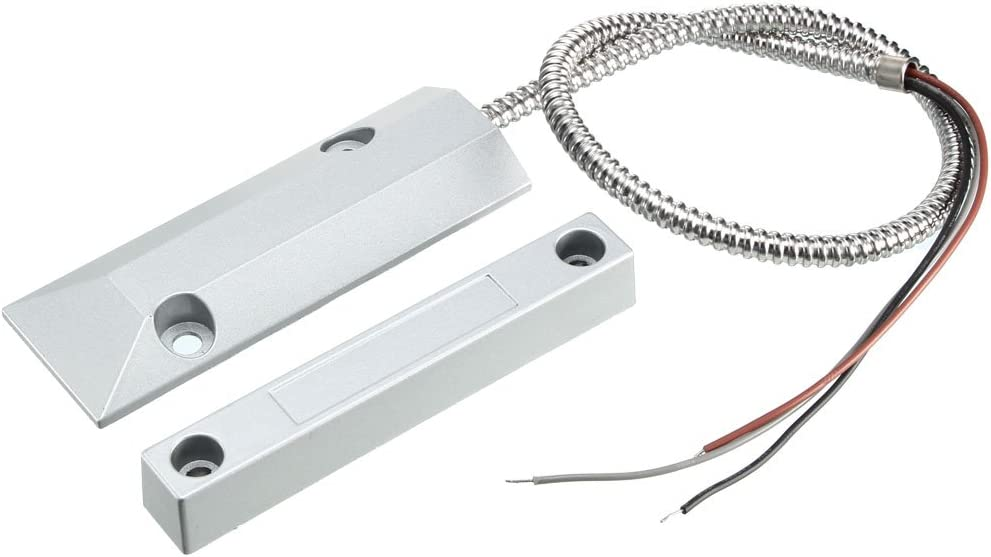 uxcell Rolling Door Contact Magnetic Reed Switch Alarm with 3 Wires for N.O./N.C. Applications OC-55