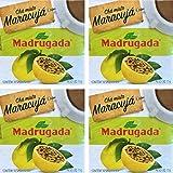 Passion Fruit Tea 10 tea bags - Chá de Maracujá 10 sachês - Madrugada - 0.5oz (15g) GLUTEN FREE - (PACK OF 04)