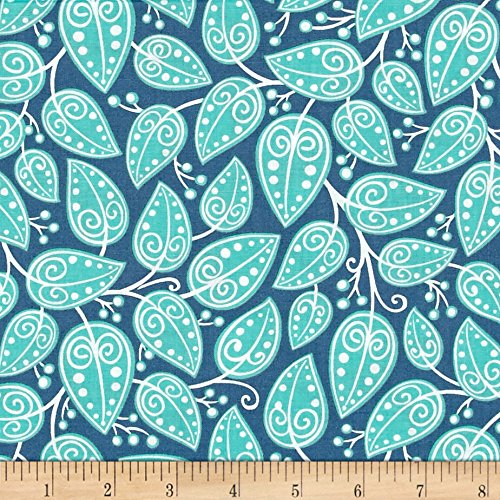 Alex Anderson Mirage Vines Angel Blue Fabric By The Yard (Fabrics Quilting Rjr)