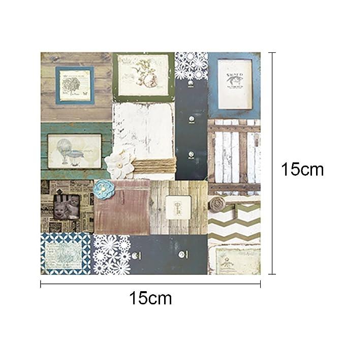 /Sfondo di carta con motivo singolo lato per DIY album scrapbook Cards Cartoncini Gaeruite 15,2/x 15,2/cm/ tipi di tipi