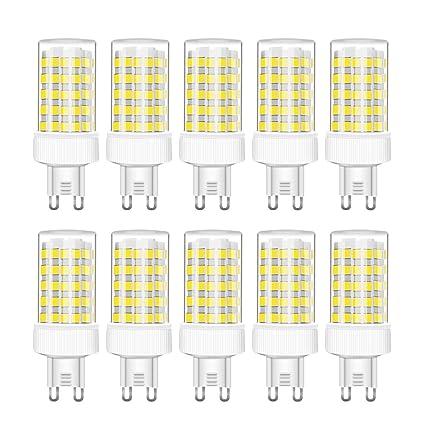 RANBOO G9 Bombilla LED 10W incandescente Equivalente a 80W 800lm Blanco Frío 6000K AC220-240V No Regulable Lot de 10
