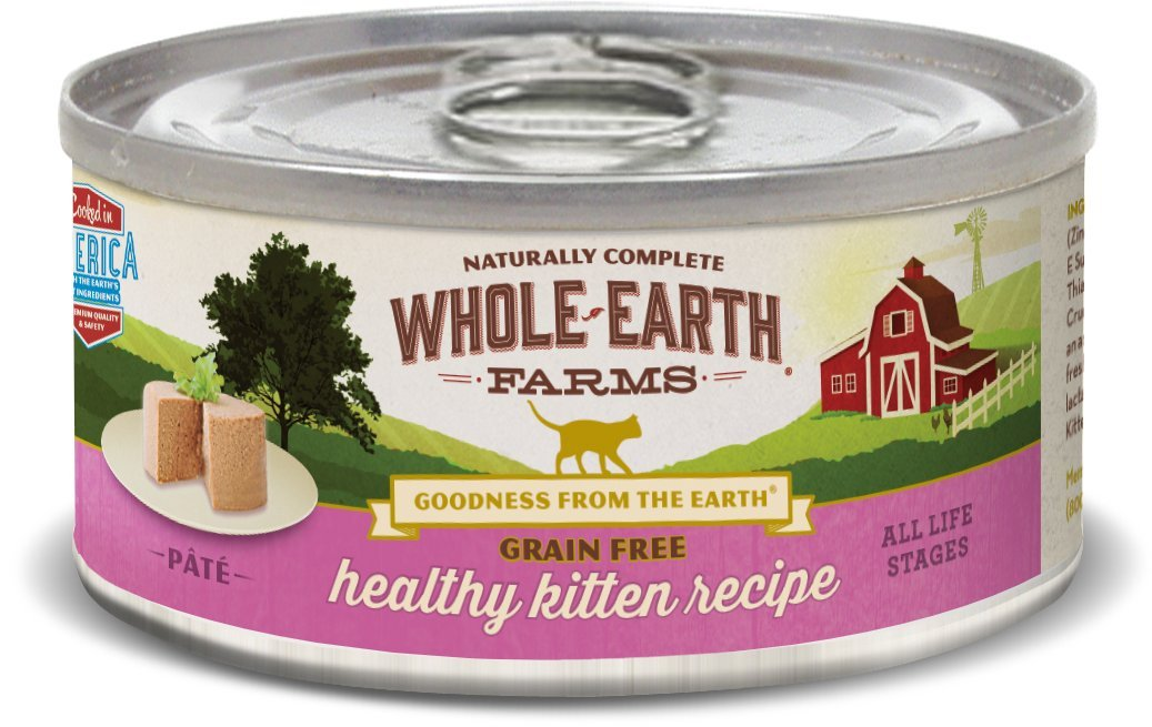 Whole Earth Farms 24 Case Grain Free Real Healthy Kitten Recipe, 5 Oz by Whole Earth Farms