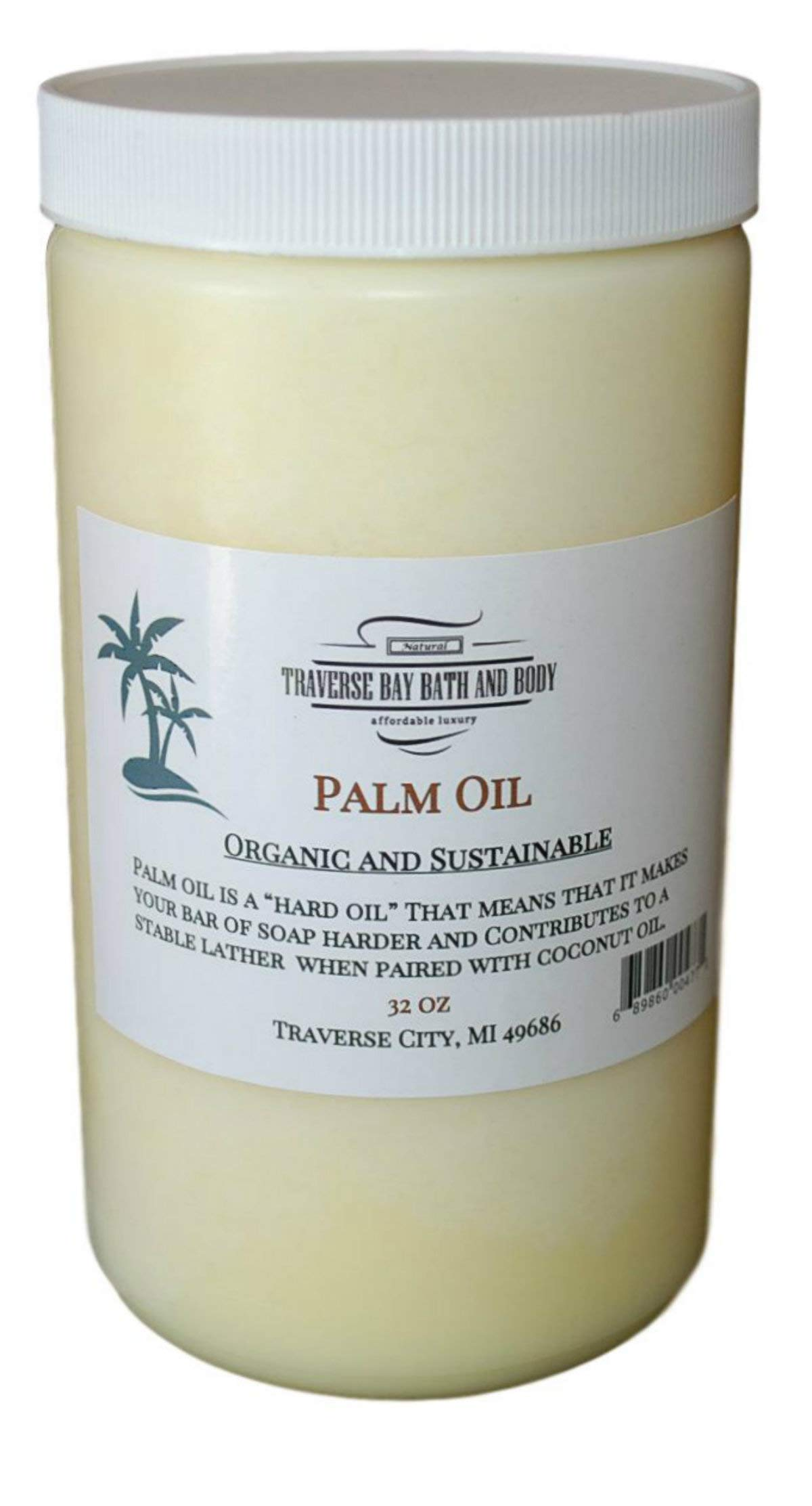 Palm Oil, Soap Making Supplies. Organic, Sustainable 32 fl oz. DIY Projects.