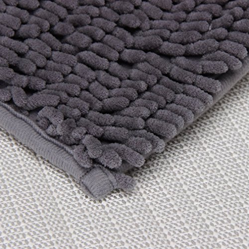 Resulzon Thick Indoor Morden Area Rugs Pads, New Arrival Fashion Color [Bedroom] [Livingroom] [Sitting-room] [Rugs] [Blanket] [Footcloth] for Home Decoration (Grey) Photo #4