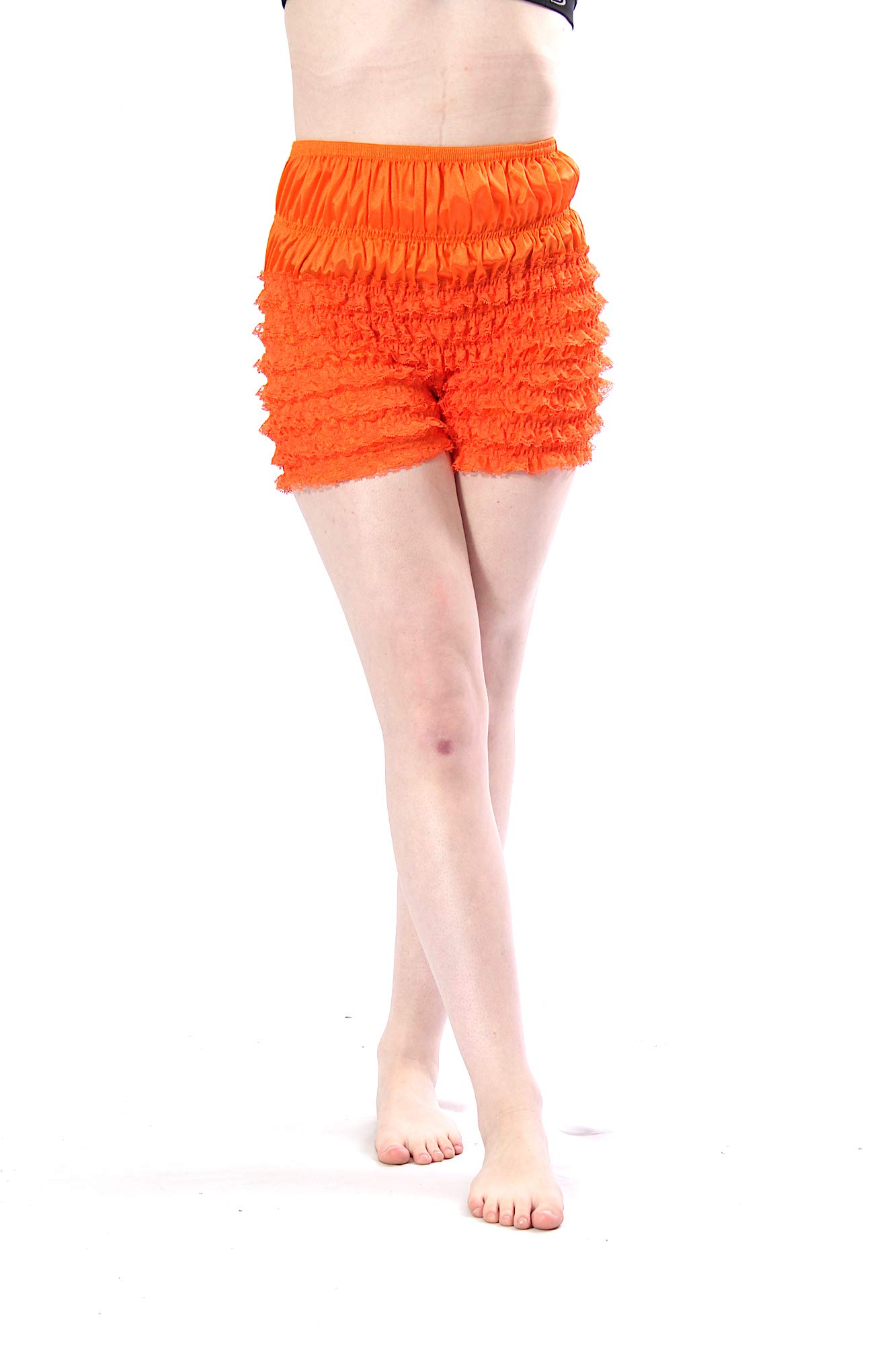 Malco Modes Womens Sexy Ruffle Panties Tanga Dance Bloomers Sissy Booty Shorts (Orange, X-Small) by Malco Modes
