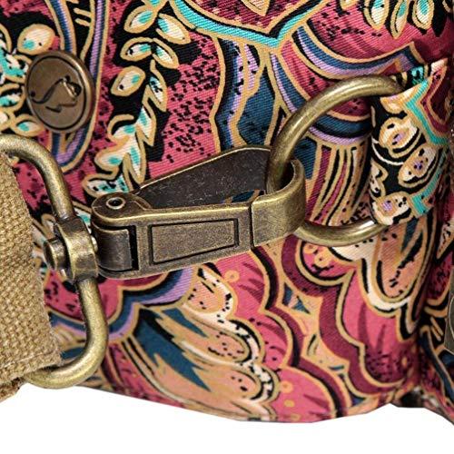 Opcional Mujeres Las Bolso bicolor color De Mensajero Lona A Tamaño La Hombro Del A Moontang SHFawxvx