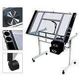 Yaheetech Adjustable Drafting Table Drawing Desk