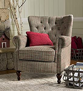 Merveilleux Madison Upholstered Wingback Chair