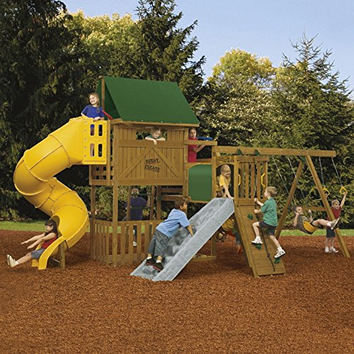 Ready To Assemble Swing Sets - PlayStar Playsets Ready To Assemble Great Escape Gold Swing Set