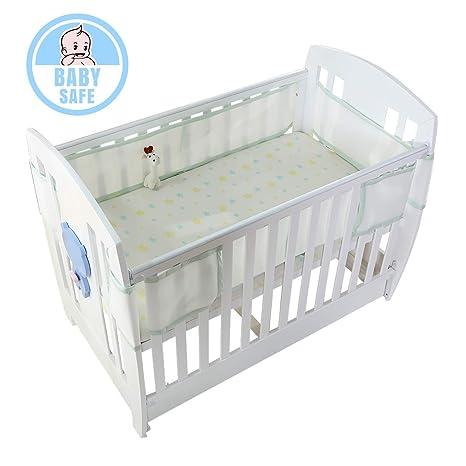 Tour de lit bébé enfant Tour de lit en maille respirant enfant ...