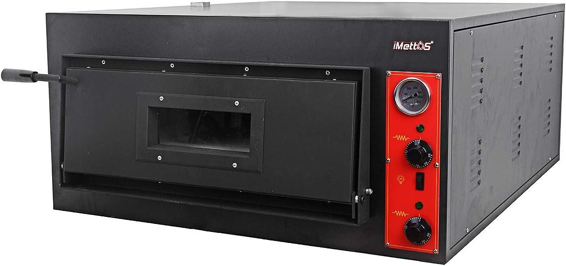 iMettos - Horno de pizza de una sola cubierta Tamaño de la cámara: 910 (ancho) x 140 (alto) x 610 (profundidad) mm