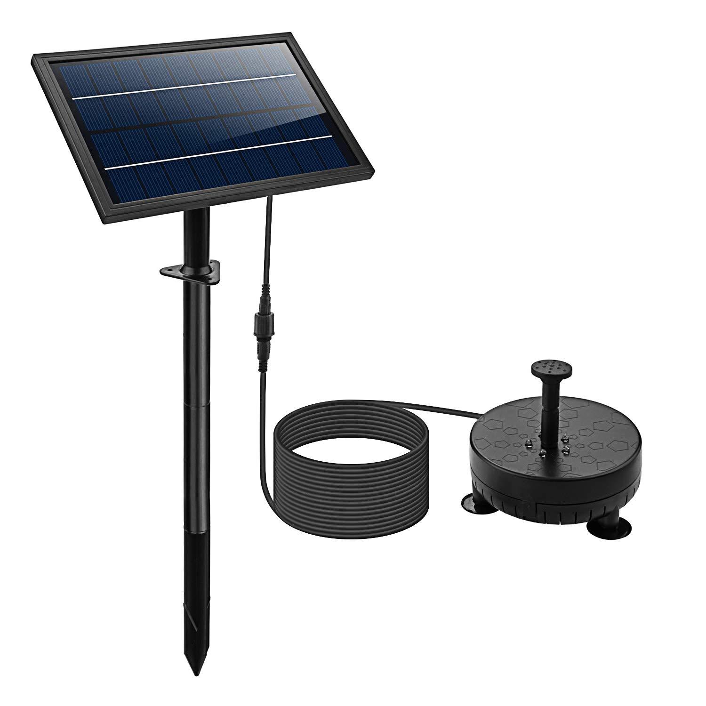 Lewisia Battery Backup Solar Fountain Pump – Includes LED Lighting