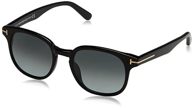 49b8fc4e92eb0 Image Unavailable. Image not available for. Color  Tom Ford Frank FT0399  Sunglasses-01N Shiny Black ...