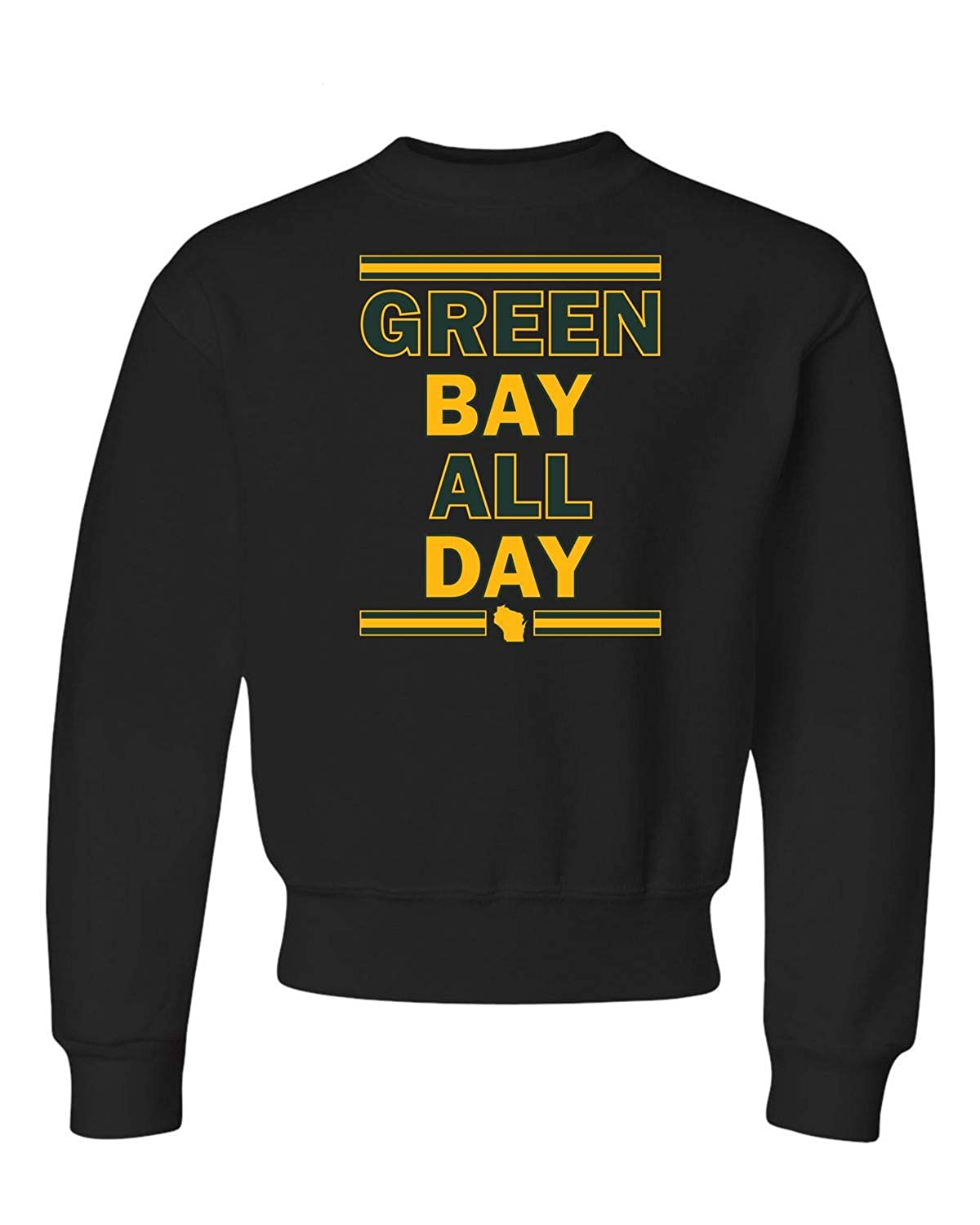 Go All Out Youth Green Bay All Day Crewneck Sweatshirt