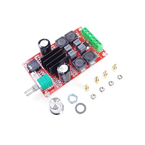 ANGEEK TPA3116D2 2 x 50W DC12V 24V Dual Channel Digital Amplificador de Placa de Potencia Clase D Audio Stereo AMP