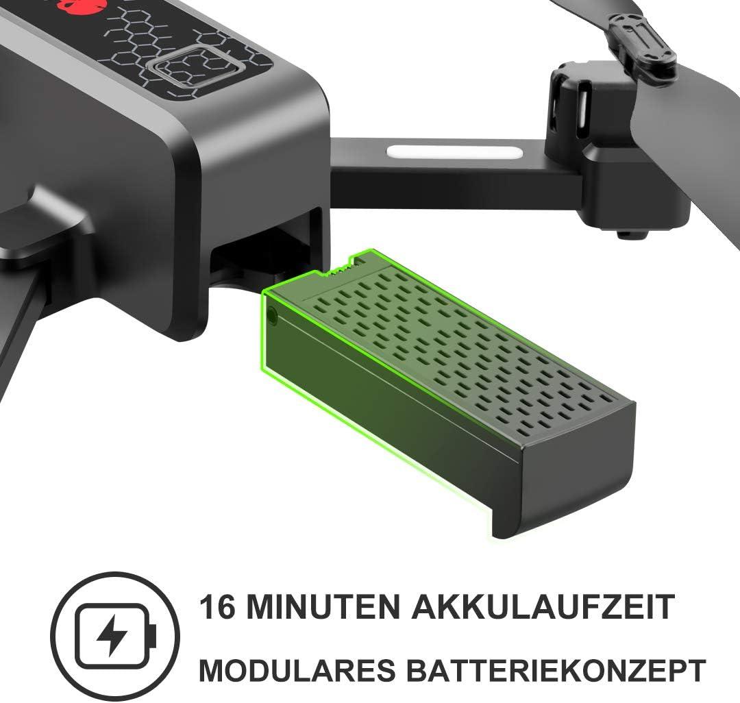 Wwman R11 con 120/° Gran angular C/ámara 1080P HD Drone plegable FPV WLAN RC Zoom 50x//Modo sin cabeza//Elevaci/ón//3D Flips//Trayectoria//Sensor de gravedad//Aterrizaje de emergencia//Con 2 bater/ía R11-1080P