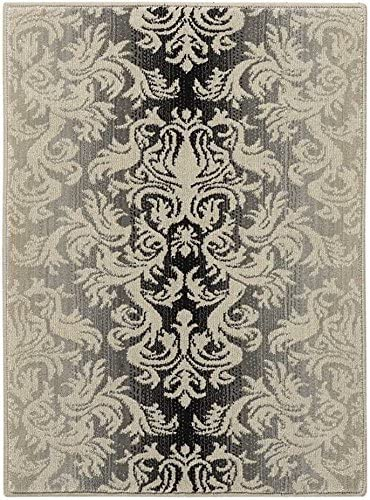 Nourison Riviera Charcoal Rectangle Area Rug, 9-Feet 6-Inches by 13-Feet 9 6 x 13