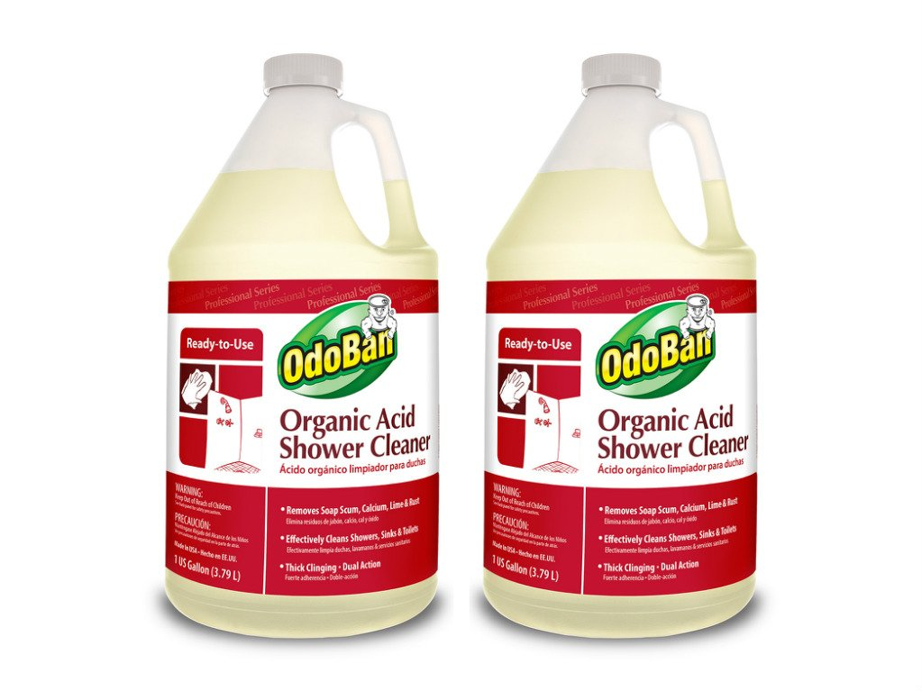 OdoBan Professional Cleaning and Odor Control Solutions, Organic Acid Shower Cleaner, 2 Gal