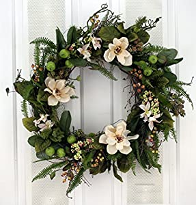 Amazon southern hospitality berry and magnolia wreath silk southern hospitality berry and magnolia wreath silk flower wreath mightylinksfo