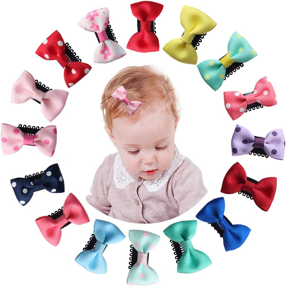 16 Piezas Clips Para Pelo Bebe Niña,pinzas de pelo lindo boutique pinzas de cocodrilo Barrettes para niñas