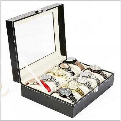 FIONAT Caja para Relojes Caja Joyero Reloj De Cuero Joyas Pulsera Joyas Regalo Caja De Almacenamiento: Amazon.es: Joyería