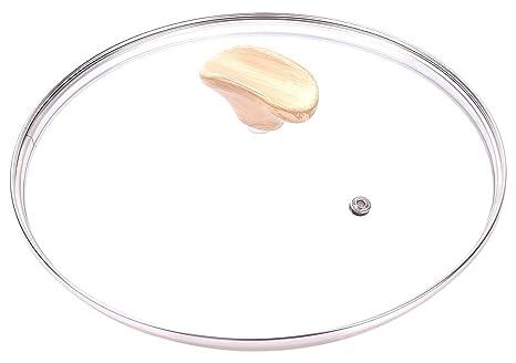 ALLUFLON Etnea Wood Edition Tapa, Cristal, Transparente, 24 x 25 x 6.5 cm
