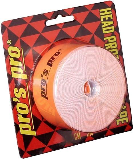 Pro Racchetta da Tennis di Protezione del Nastro Testina del Nastro 5m 2,5 Centimetri Orange