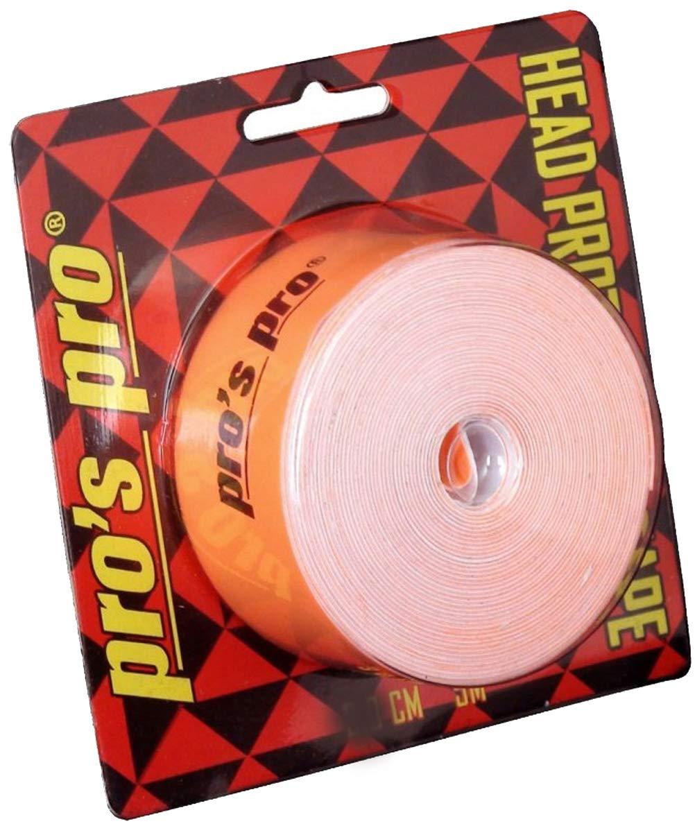 Pro Tennis Racket Protection Tape Head Tape 5m 2.5cm orange