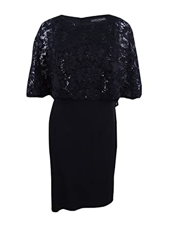 10553cae6870 Jessica Howard Womens Lace Popover Capelet Dress at Amazon Women's Clothing  store: