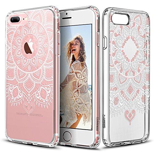 Case Dahlia Black (ESR iPhone 7 Plus Case, Floral Flower Pattern Cover for Girls/Women [Anti Scratch PC Back + Soft Bumper] for iPhone 7 Plus 5.5