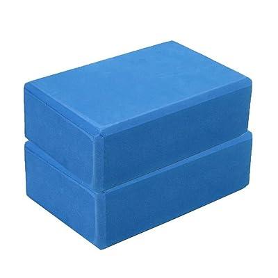haoricu Yoga Block,Exercise Fitness Foam Bolster Pillow Cushion, High Density Comfortable EVA Foam Yoga Blocks (23158CM, Blue): Clothing