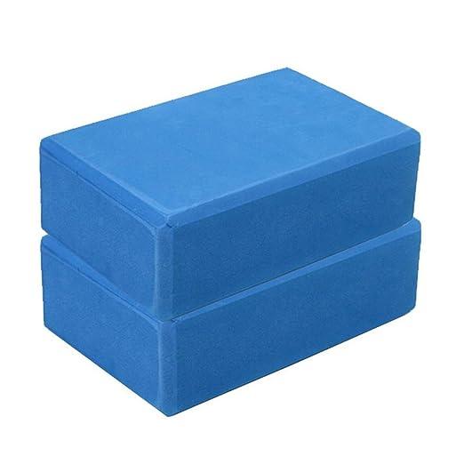 Yoga Block, Transer Exercise Fitness Yoga Blocks Foam Bolster Pillow Cushion EVA Gym Training - 23 x 15 x 8 cm (Blue)
