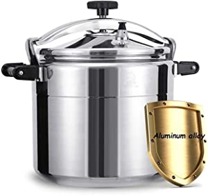 Household pressure cooker aluminum alloy commercial explosion-proof pressure cooker, large capacity thickened gas stove pressure cooker 9L-50L suitable for family hotel canteens and schools