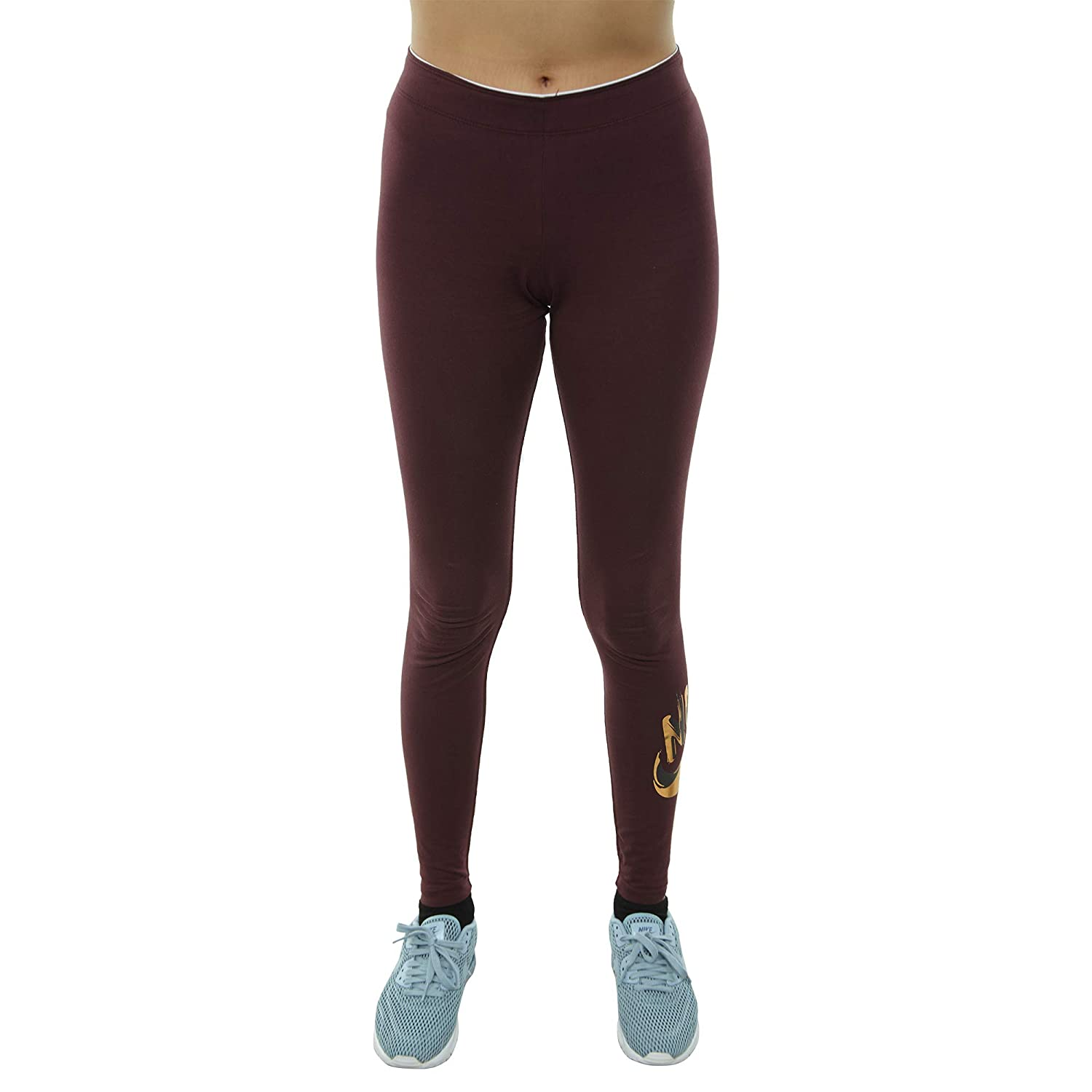 55ad05b10bdba Amazon.com: NIKE Women's NSW GX Metallic Leggings Burgundy/Metallic Gold  939301-652: Shoes